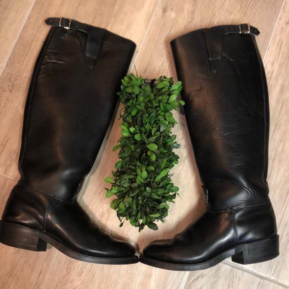 8e03e88651e Heavy Leather Tall Riding Boots